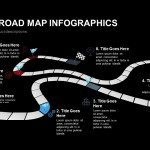 Creative Road Map Infographics Powerpoint Keynote template