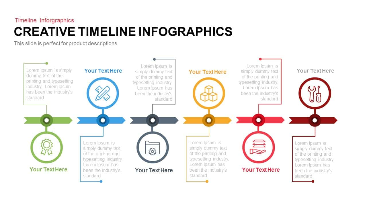 creative infographics timeline powerpoint template keynote slide