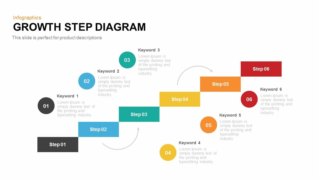 Growth step diagram powerpoint keynote template toneelgroepblik Images