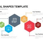 Hexagonal Shapes Template Powerpoint Keynote