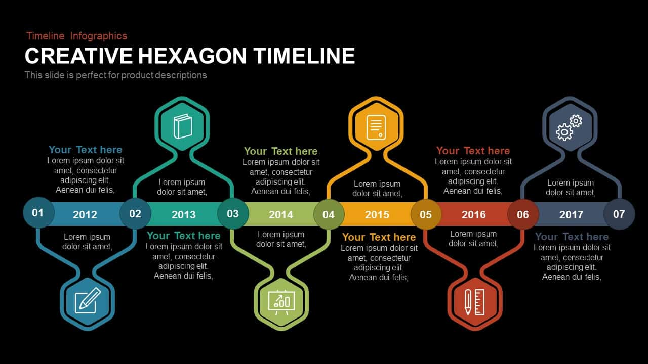 Creative Hexagon Timeline Powerpoint And Keynote Slidebazaar