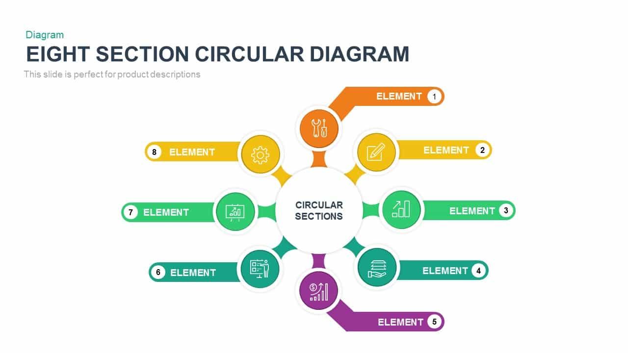 Eight Section Circular Diagram
