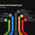 Five Up Arrow Infographics