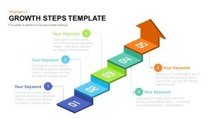 Growth Steps Template for PowerPoint and Keynote Presentation