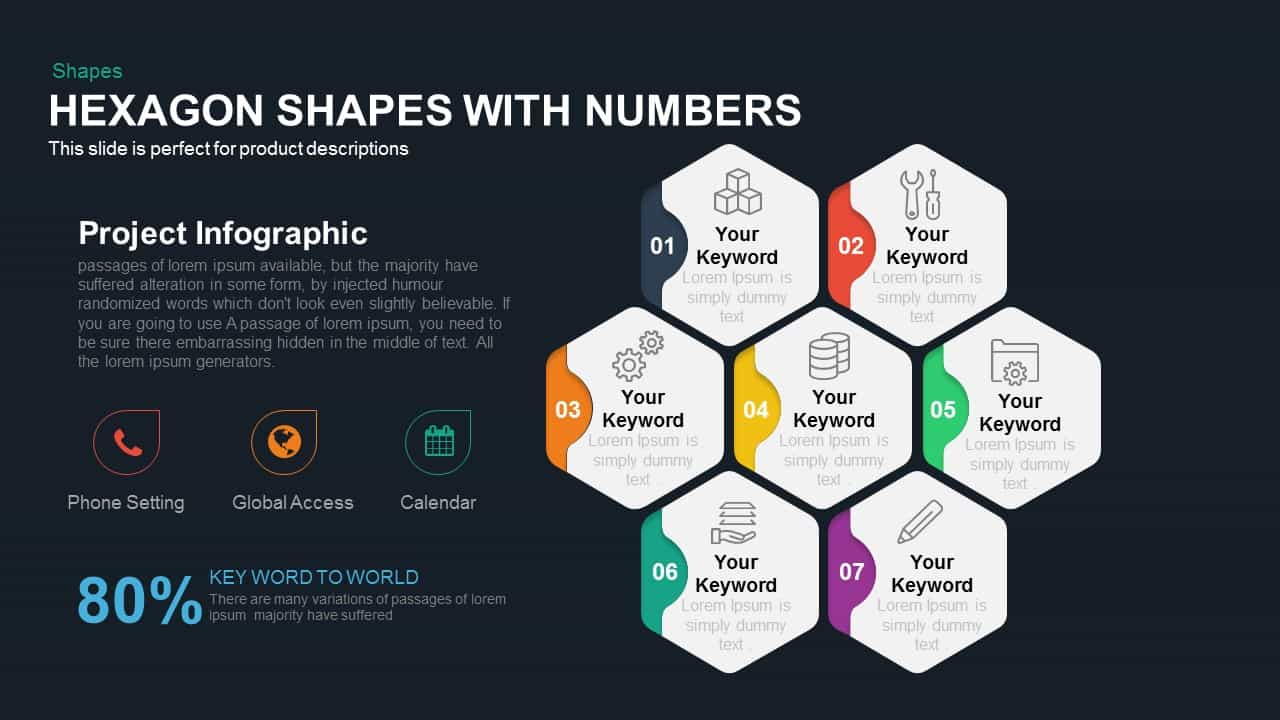 Hexagon Shapes with Numbers
