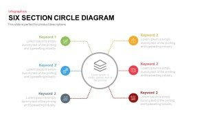4 and 6 Section Circle Diagram PowerPoint Template and Keynote Slide