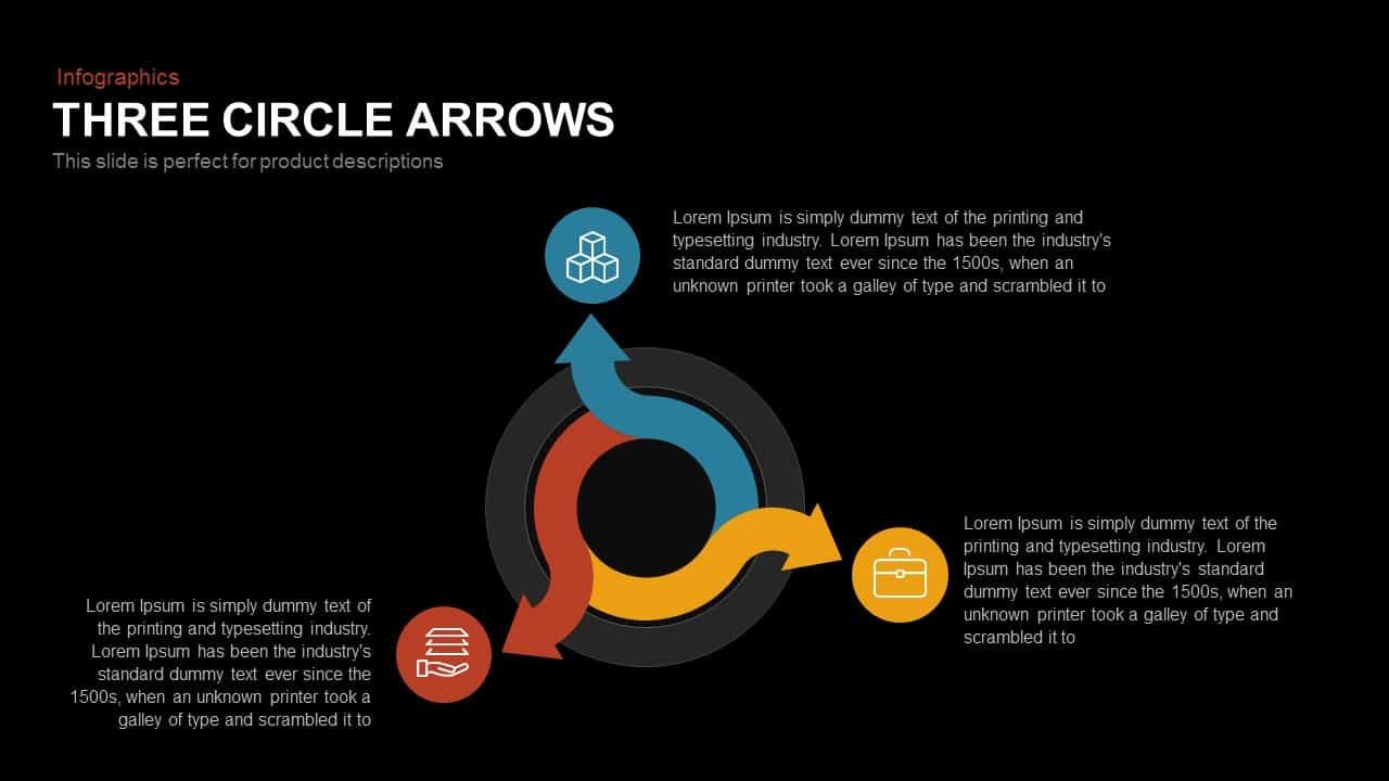 Three Circle Arrows