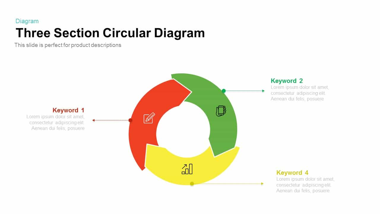 Section Circular Diagram PowerPoint Template and Keynote