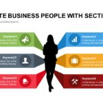 Silhouette Business People with Sections