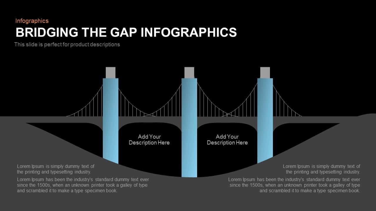 Bridging the Gap Infographics Powerpoint and Keynote template