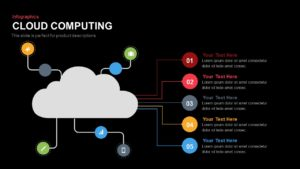Infographics Cloud Computing PowerPoint Template and Keynote