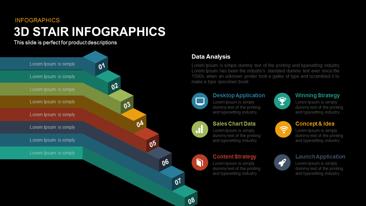 3d Stair Infographics