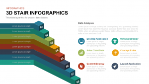 3d Stair Infographics Template for PowerPoint and Keynote