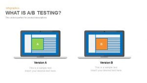 A/B Testing PowerPoint Template and Keynote Slide