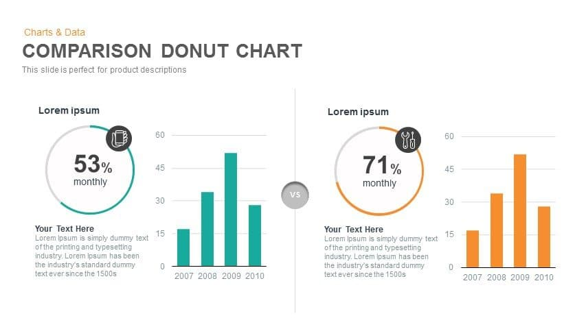 Comparison donut chart powerpoint and keynote template slidebazaar comparison donut chart powerpoint and keynote template ccuart Image collections