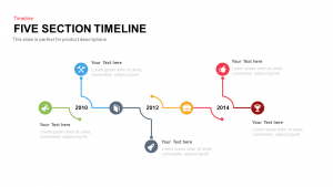 Five Section Timeline PowerPoint Template and Keynote