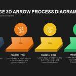 Three Stage 3d Arrow Process Diagram