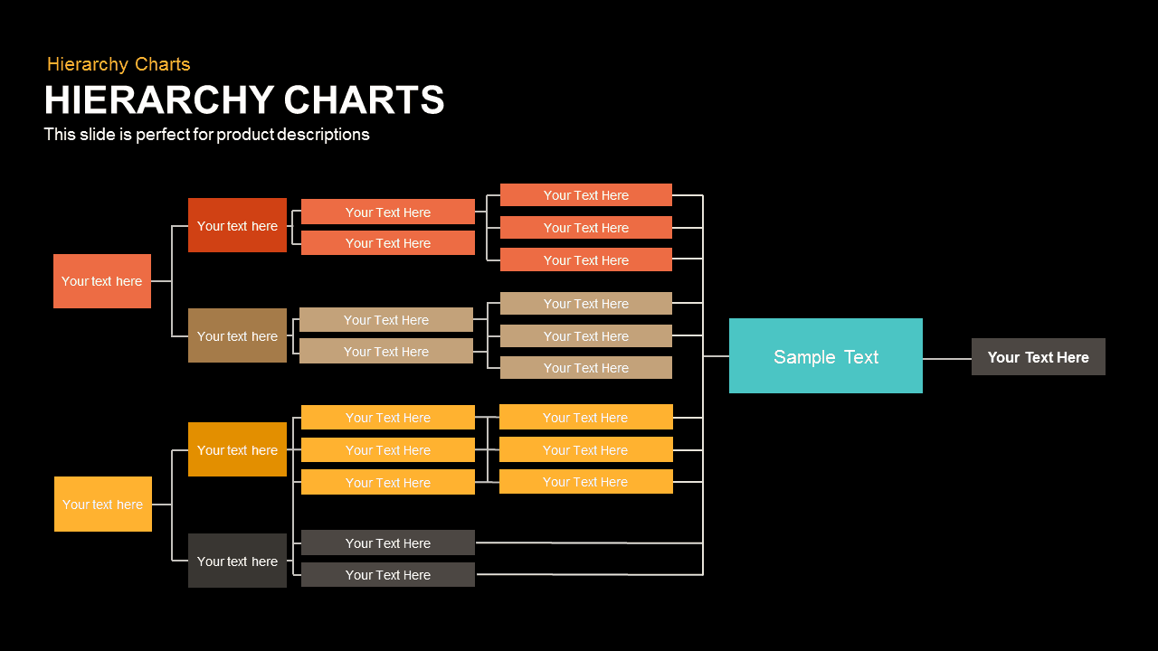 hierarchy charts powerpoint and keynote template slidebazaar. Black Bedroom Furniture Sets. Home Design Ideas