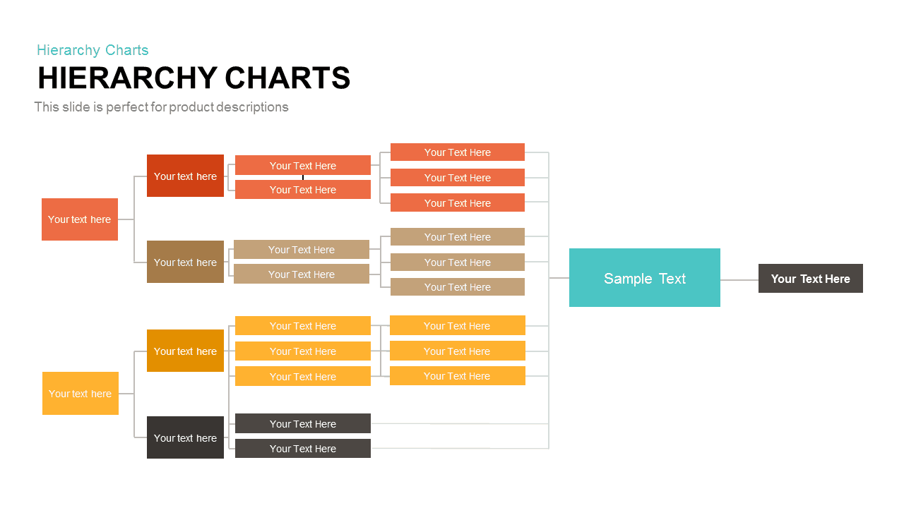 Hierarchy Chart Template for PowerPoint and Keynote