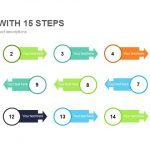 Process with 15 Steps Powerpoint and Keynote template