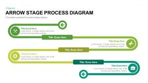 Arrow Stage Process Diagram PowerPoint Template and Keynote