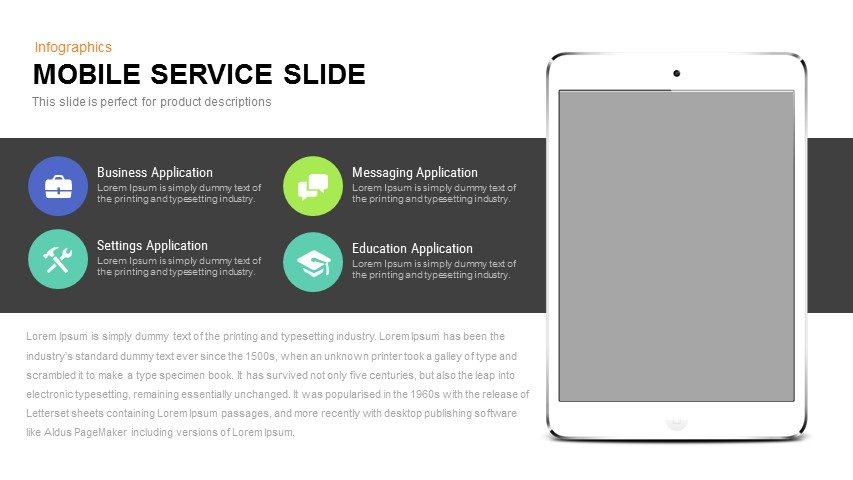 Mobile Service PowerPoint Template and Keynote Slide