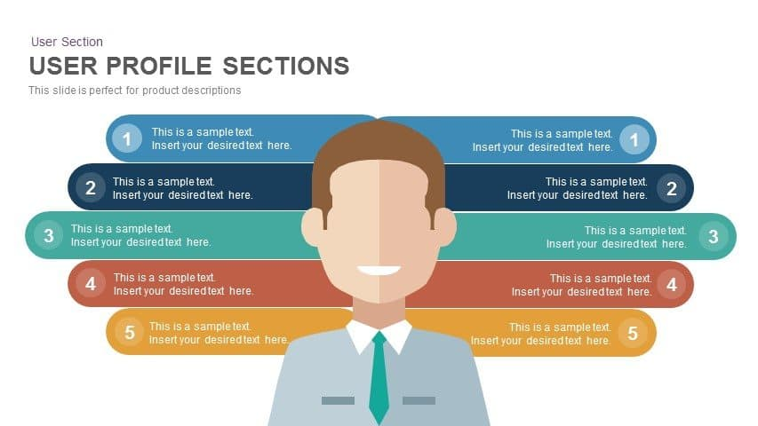 User Profile Sections Powerpoint and Keynote template