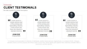 Client Testimonial PowerPoint Template and Keynote