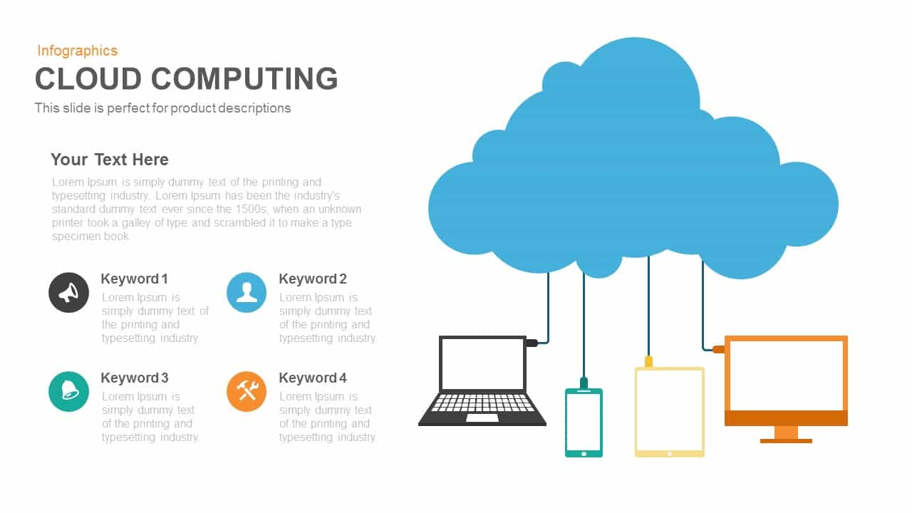 cloud computing powerpoint and keynote template slidebazaar
