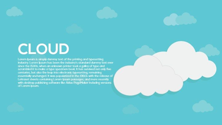 cloud metaphor powerpoint and keynote template slidebazaar
