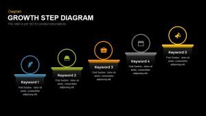 Growth Step Diagram Template for PowerPoint and Keynote