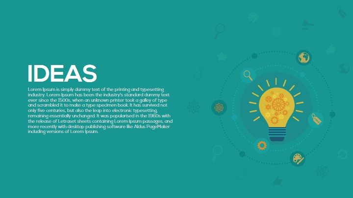 Light bulb idea PowerPoint template and keynote