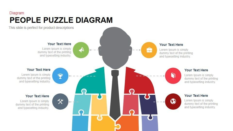 People Puzzle Diagram Powerpoint and Keynote template