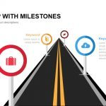 Road Map with Milestones Powerpoint and Keynote template