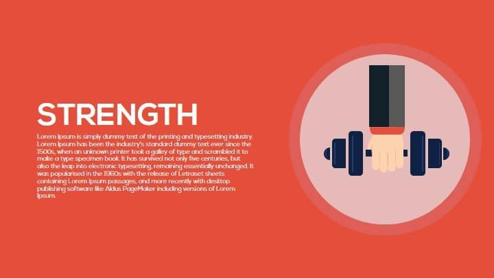 Strength Metaphor Powerpoint and Keynote Template