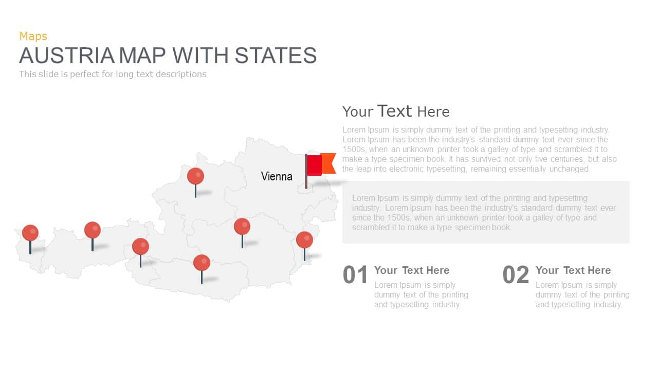 Austria Map Powerpoint and Keynote