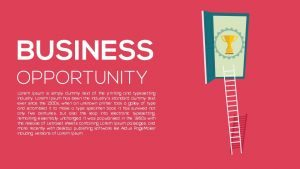 Business Opportunity PowerPoint Template and Keynote Slide