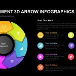 Eight Segment 3D Arrow Infographics Powerpoint and Keynote template
