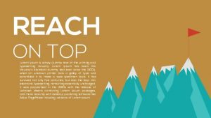Metaphor Reach on Top PowerPoint Template and Keynote Slide