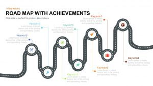 Road Map PowerPoint Template with Achievements and Keynote Template