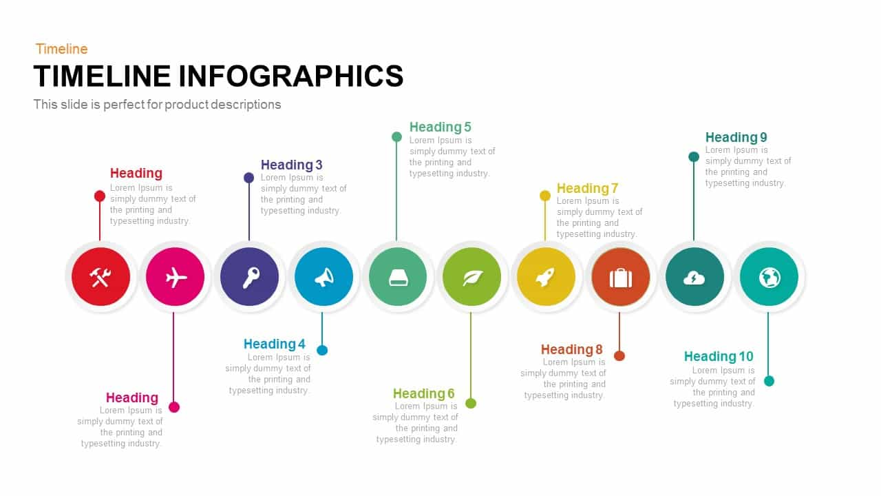 timeline infographic PowerPoint template and keynote