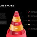 Traffic Cone Shapes Powerpoint and Keynote template