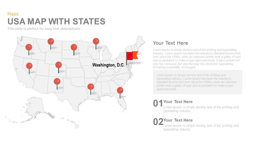 USA Map Keynote Template By Slidehack GraphicRiver USA Map USA - Bortle map us