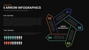 5 Infographics Arrow PowerPoint Template and Keynote Slide