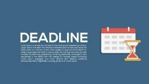 Metaphor Deadline Powerpoint Templates and Keynote template