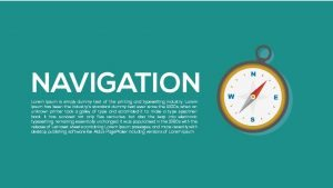 Navigation Metaphor Powerpoint and Keynote template