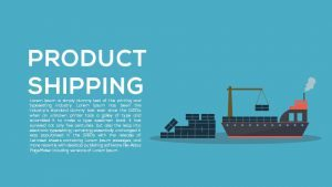 Product Shipping Metaphor Powerpoint and Keynote template