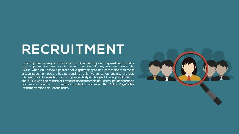 Recruitment Metaphor Powerpoint and Keynote template