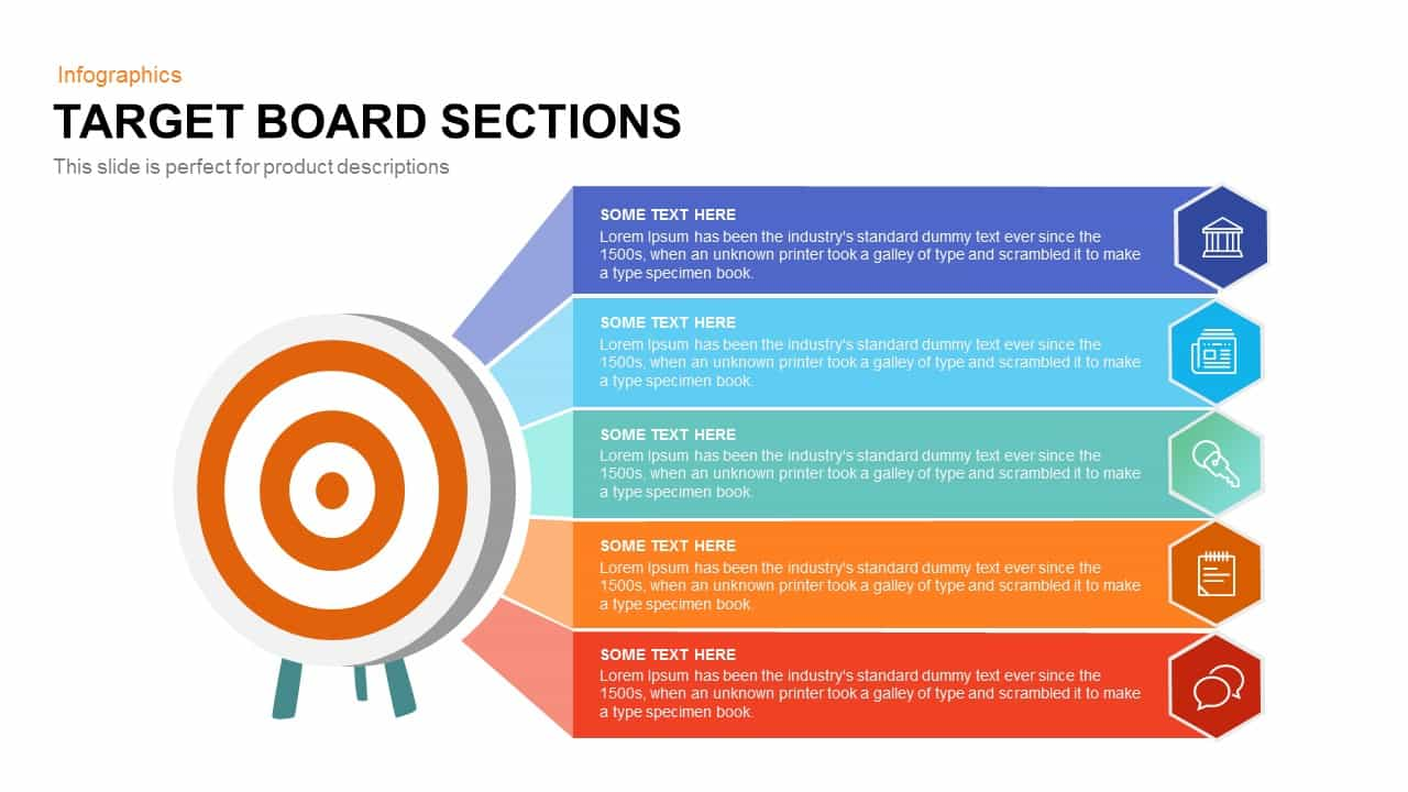 target board sections powerpoint and keynote template slidebazaar