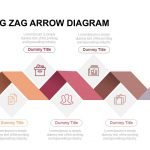 5 Stage Zig Zag Arrow Diagram Powerpoint and Keynote template